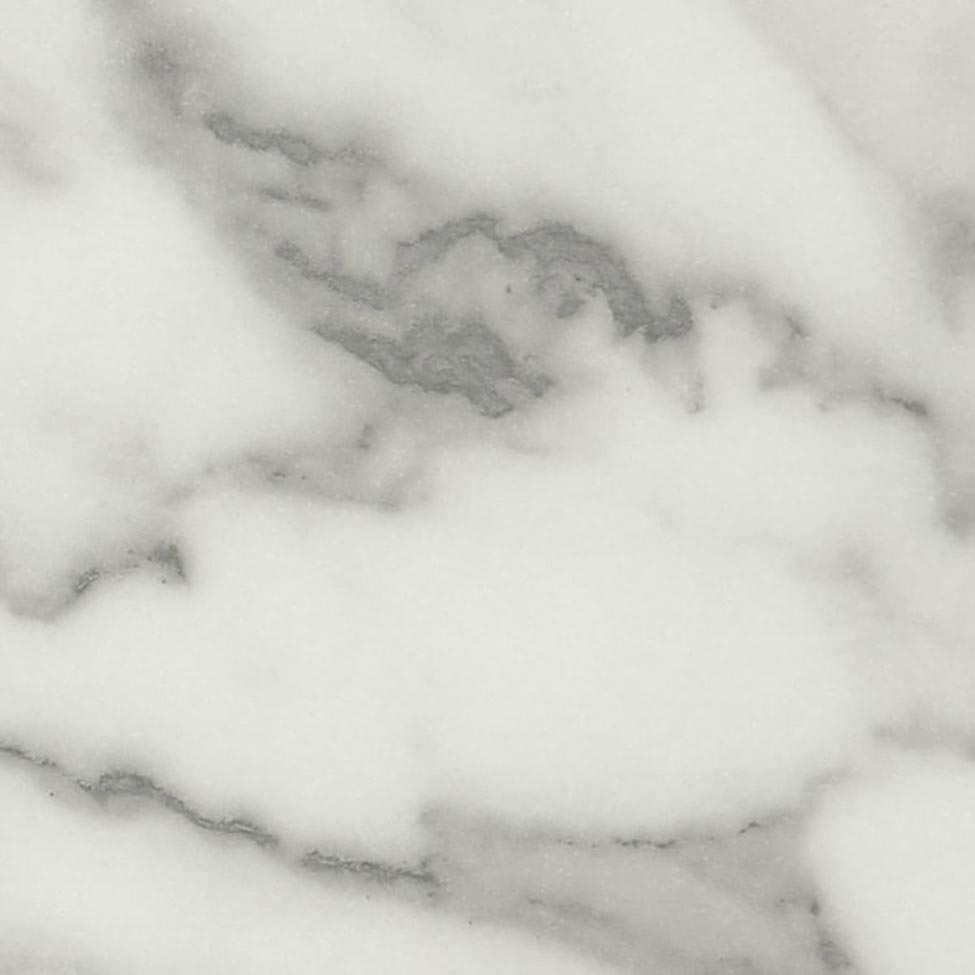 Carrara Marble is a traditional style decor with striking grey veining on a white base. Natural finish is a low sheen, smooth touch finish that gives a very natural look .